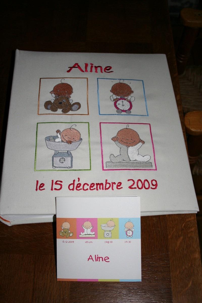 Album photo d'Aline broderie personnalisée