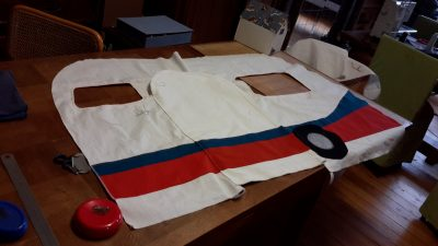 Confection de la caravane des enfants en tissu