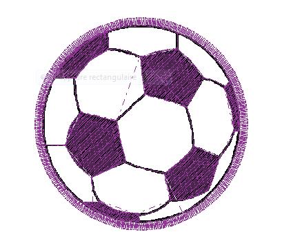 ballon de foot-motif de broderie