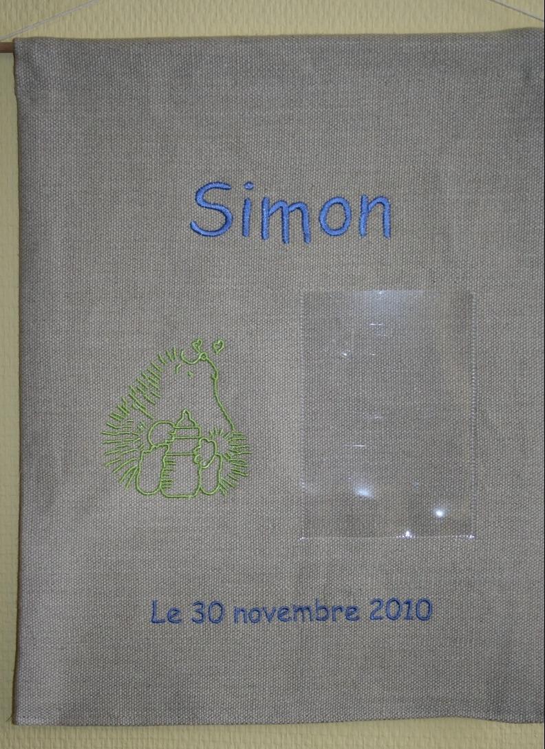 Panneau porte-photo pour Simon